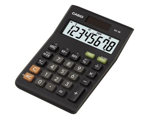 Калькулятор настольный Casio MS-8B 8-разрядный черный - (489023К)