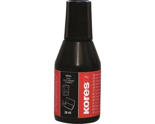 Краска штемпельная Kores черная 28 мл - (3795К)