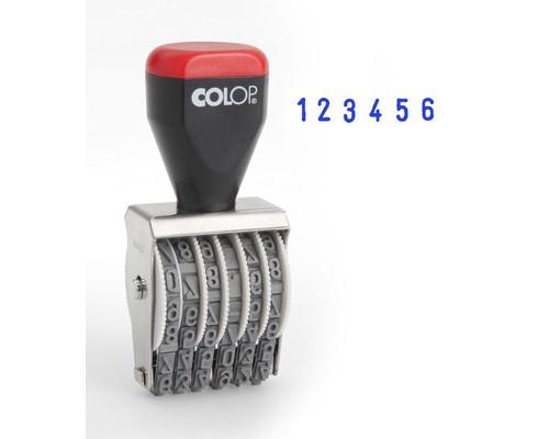 Нумератор ручной Colop 6-и разрядный шрифт 5 мм - (219000К)