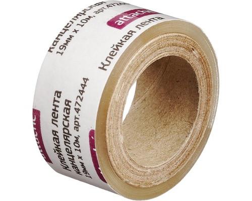 Клейкая лента канцелярская Attache прозрачная 19 мм х 10 м эконом - (472444К)