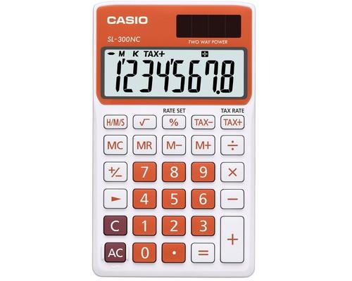 Калькулятор настольный Casio SL-300NC-RG-S-EH 8-разрядный оранжевый - (489030К)