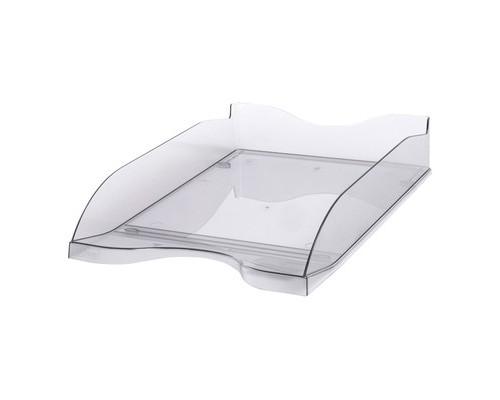 Лоток для бумаг горизонтальный Стамм тонированный серый 2 штуки в упаковке - (115670К)