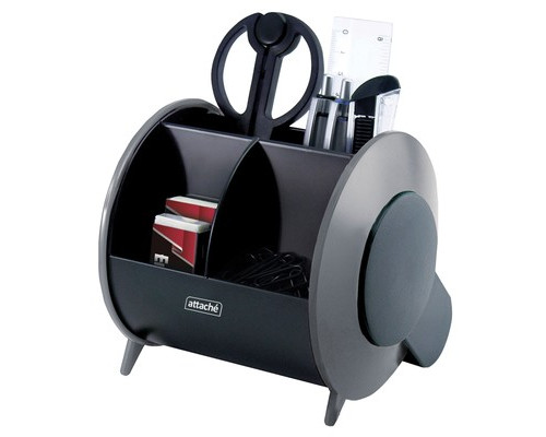 Настольный набор Attache черный-серый 10 предметов - (327424К)