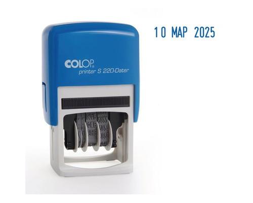 Датер автоматический пластиковый Colop S220 шрифт 4 мм буквенное обозначение месяца - (218980К)