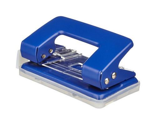 Дырокол Attache 6304 до 12 листов синий с линейкой - (371313К)