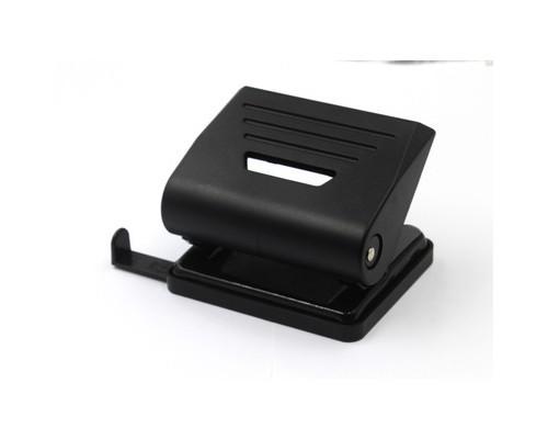 Дырокол Attache Eco до 15 листов черный с линейкой - (611857К)