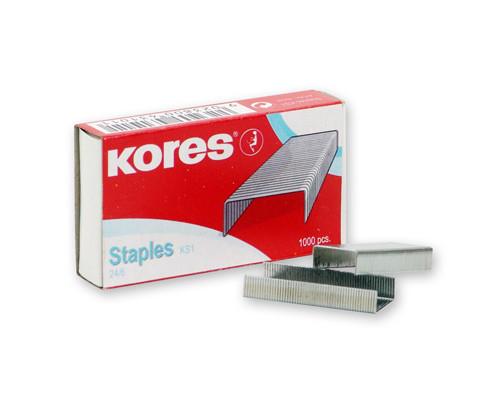 Скобы для степлера №24/6 Kores никелированные 1000 штук в упаковке - (60915К)
