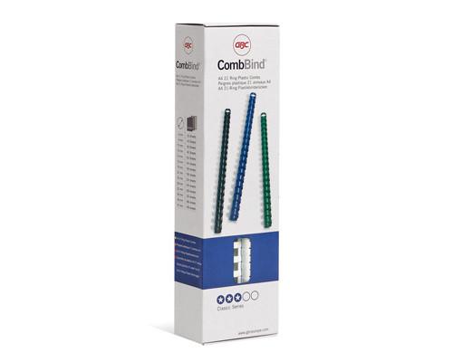 Пружины для переплета пластиковые GBC 6 мм белые 100 штук в упаковке - (169479К)
