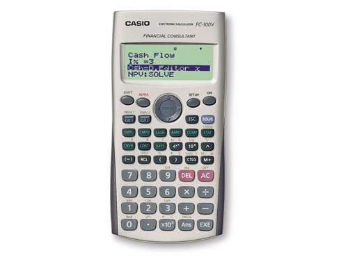 Калькулятор финансовый Casio FC 100V 10-разрядный 100 функций - (61928К)
