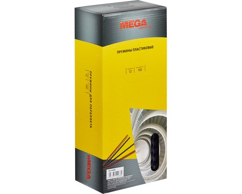 Пружины для переплета пластиковые ProMega Office 12 мм прозрачные 100 штук в упаковке - (255090К)