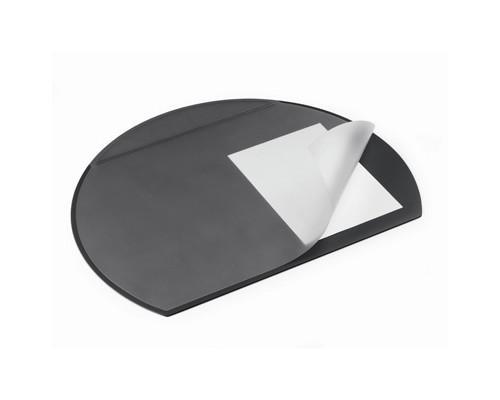 Коврик на стол Durable 52х65 см полукруглый прозрачный лист черный - (273233К)