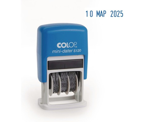 Датер автоматический Colop S120 шрифт 3.8 мм месяц буквами мини пластиковый - (2138К)