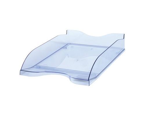 Лоток для бумаг горизонтальный Стамм тонированный голубой 2 штуки в упаковке - (115668К)