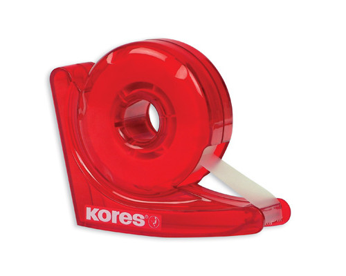 Диспенсер для клейкой ленты канцелярской Kores Улитка с прозрачной лентой 19 мм х 33 м - (87678К)