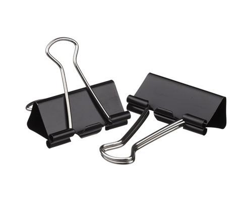 Зажимы для бумаг Attache 41 мм черные 12 штук в пакете - (509189К)