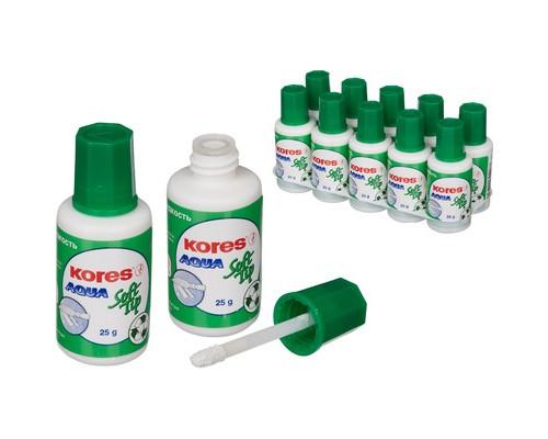 Корректирующая жидкость Kores Aqua Soft Tip на водной основе 25 мл - (60907К)