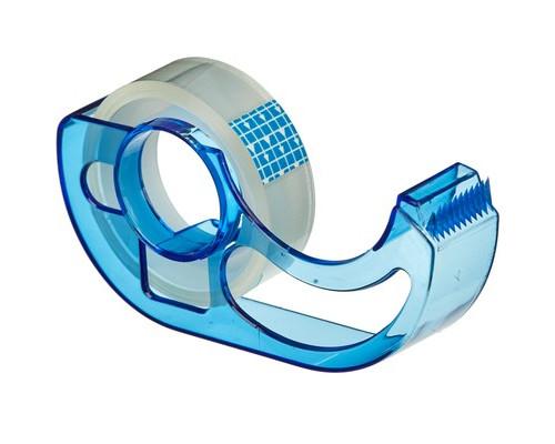 Диспенсер Attache Line для клейкой ленты голубой с лентой 12мм х 10м - (618405К)