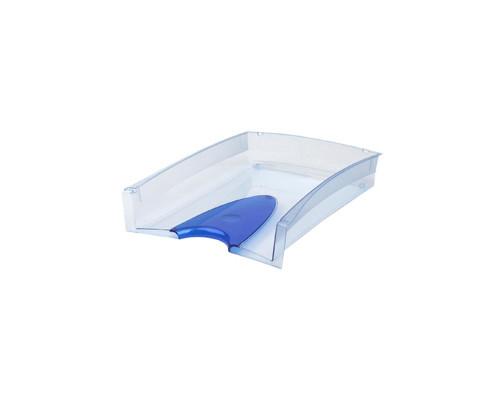Лоток для бумаг горизонтальный Attache тонированный синий 2 штуки в упаковке - (171177К)