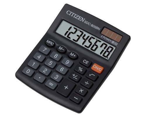 Калькулятор настольный Citizen SDC805BN 8-разрядный черный - (218875К)