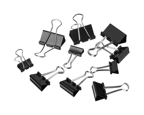 Зажимы для бумаг Attache 19/25/32 мм черные 12 штук в упаковке - (509192К)