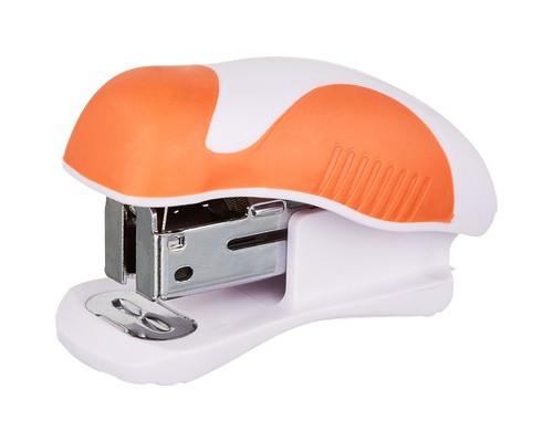 Степлер мини Attache Master до 15 листов белый с оранжевым - (611853К)