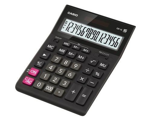 Калькулятор настольный Casio GR-16 16-разрядный черный - (394706К)