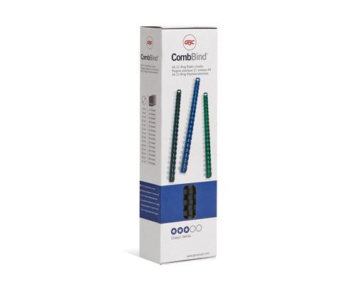 Пружины для переплета пластиковые GBC 8 мм черные 100 штук в упаковке - (169484К)
