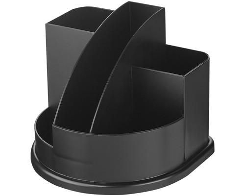 Подставка для канцелярских мелочей Attache Авангард черная 5 отделений - (243522К)