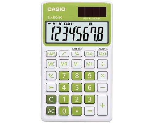 Калькулятор настольный Casio SL-300NC-GN-S-EH 8-разрядный зеленый - (489027К)