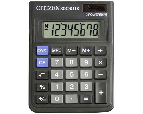 Калькулятор настольный Citizen SDC-011S 8-разрядный черный - (273053К)