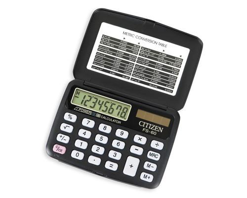 Калькулятор карманный Citizen FS-60BKII 8-разрядный - (19889К)