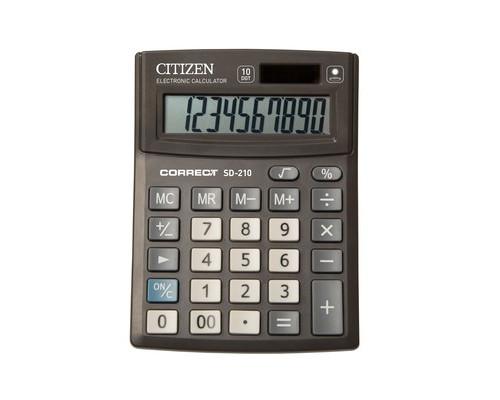 Калькулятор настольный Citizen Correct SD-210 10-разрядный черный - (480263К)