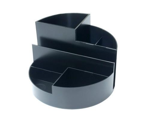 Подставка для канцелярских мелочей Attache Профи черная 7 отделений - (32317К)