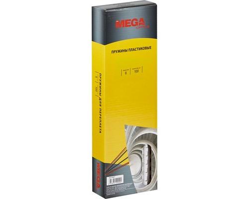 Пружины для переплета пластиковые ProMega Office 6 мм белые 100 штук в упаковке - (255071К)