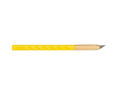 Нож-скальпель канцелярский Attache Selection с перовым лезвием желтый - (280455К)