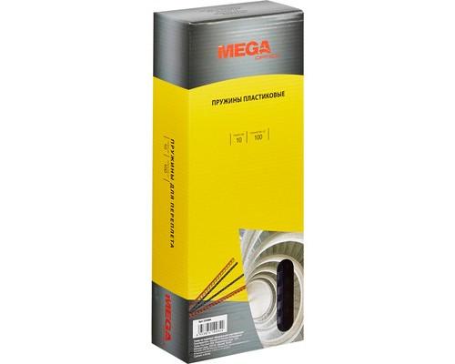 Пружины для переплета пластиковые ProMega Office 10 мм прозрачные 100 штук в упаковке - (255084К)