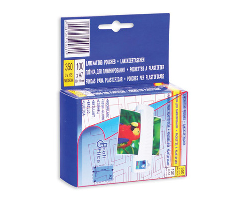 Пленка для ламинирования ProfiOffice 80х111 мм 2х175 мкм глянцевая 100 штук в упаковке - (32665К)