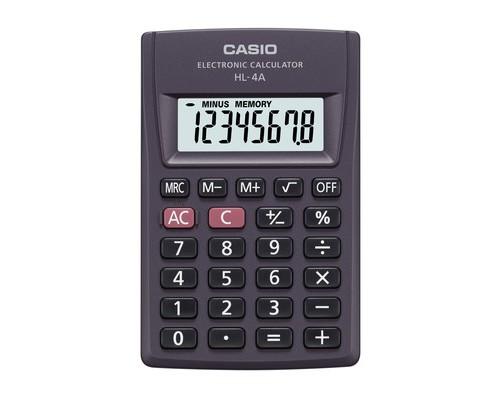 Калькулятор карманный Casio HL-4А 8-разрядный - (22310К)