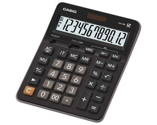 Калькулятор настольный Casio GX-12B 12-разрядный черный - (681608К)