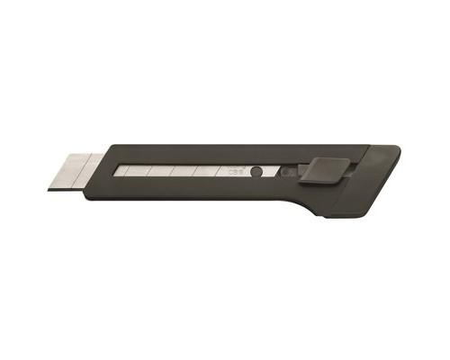 Нож канцелярский Edding E-M18 18 мм с фиксатором черный - (49972К)