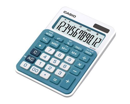 Калькулятор настольный Casio MS-20NC-BU 12-разрядный голубой - (368598К)