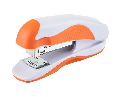 Степлер Attache Master до 20 листов белый с оранжевым - (612593К)