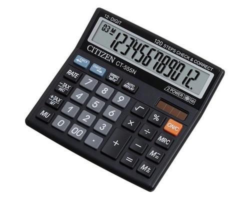 Калькулятор настольный Citizen CT555N 12-разрядный черный - (334706К)
