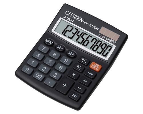 Калькулятор настольный Citizen SDC810BN 10-разрядный черный - (218876К)