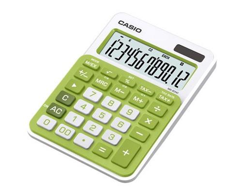 Калькулятор настольный Casio MS-20NC-GN 12-разрядный зеленый - (368599К)