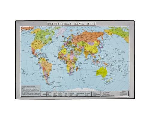 Коврик на стол Attache Политическая карта мира 38x59 см цветной ПВХ - (46959К)