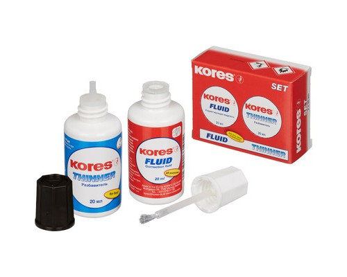Корректирующая жидкость Kores 20 мл + разбавитель - (496К)