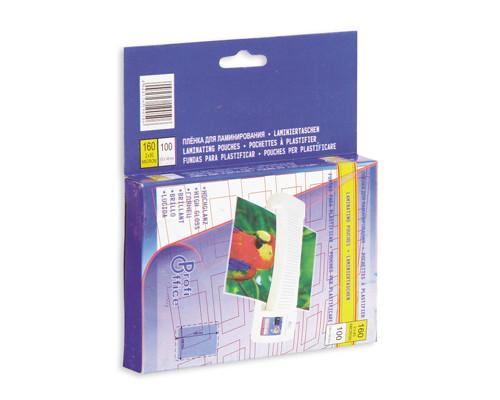 Пленка для ламинирования ProfiOffice 100х146 мм 2х80 мкм глянцевая 100 штук в упаковке. - (88225К)