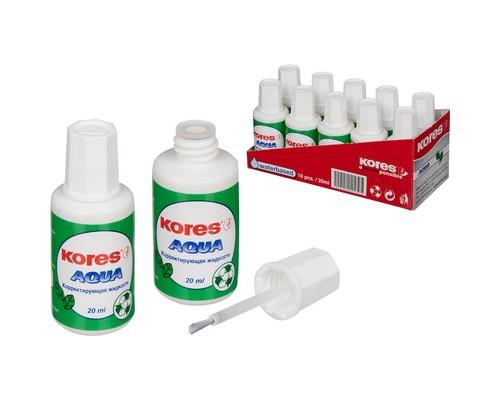 Корректирующая жидкость Kores Aqua на водной основе 20 мл - (60906К)