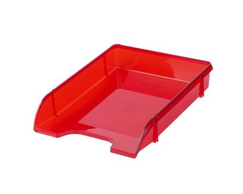 Лоток для бумаг горизонтальный Attache Триколор красный прозрачный - (683961К)
